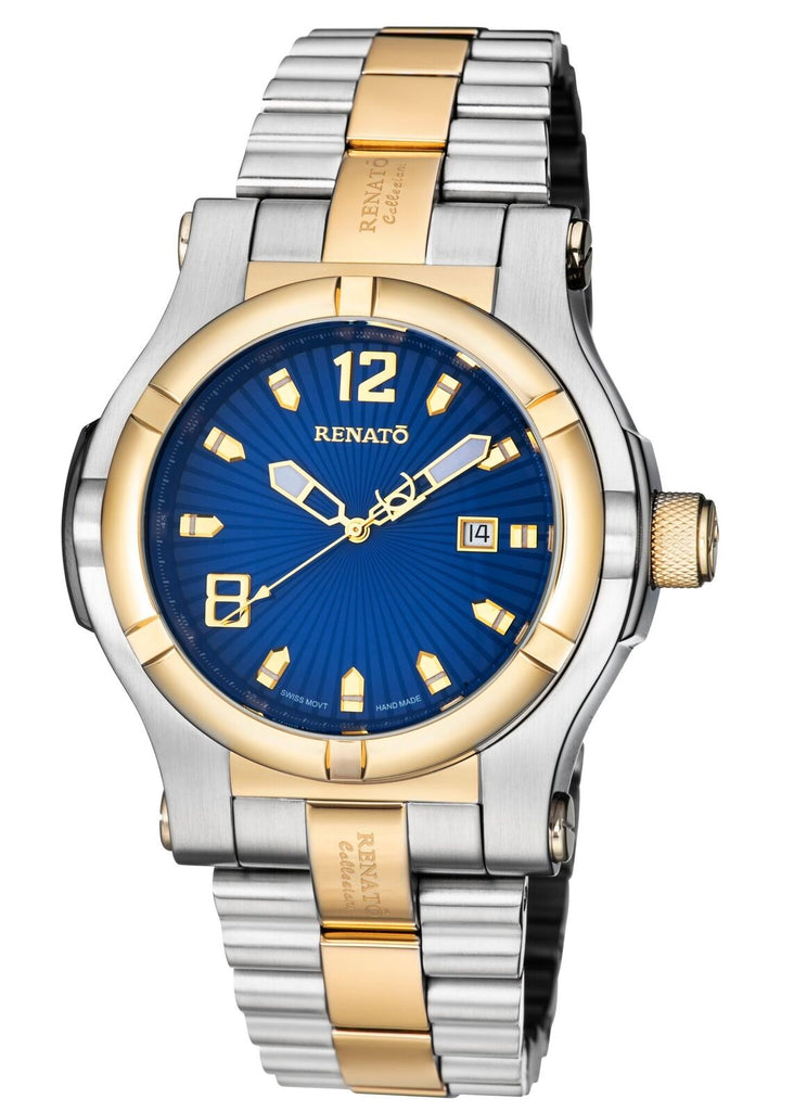Renato Limited Edition T-Rex 50mm Swiss ETA 2824 Automatic Two-Tone Blue Dial
