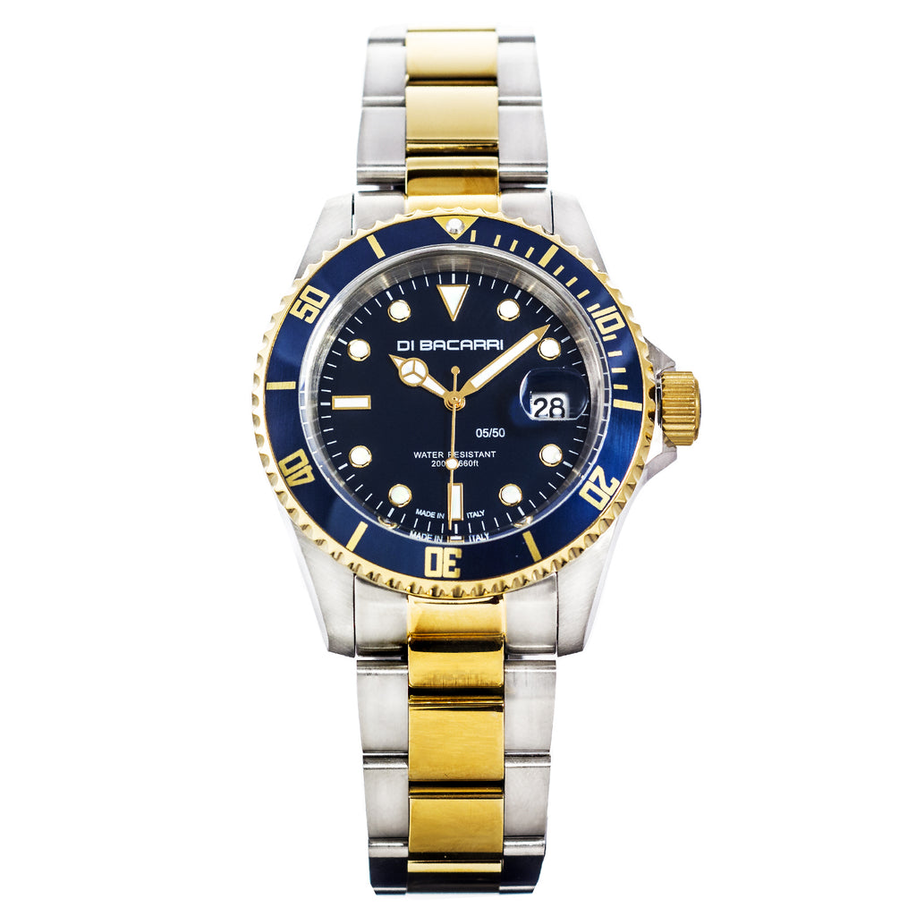 Di Bacarri Limited Edition 42mm Marina Diver 18K Gold Two-Tone Deep Blue