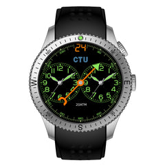 Deal 24 CTU Agent Watch Two Time Zone  Compass Collection