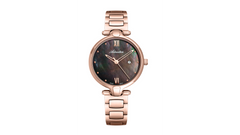 Adriatica Ladies Limited Edition Swiss Made Rose Gold Black Mother of Pearl