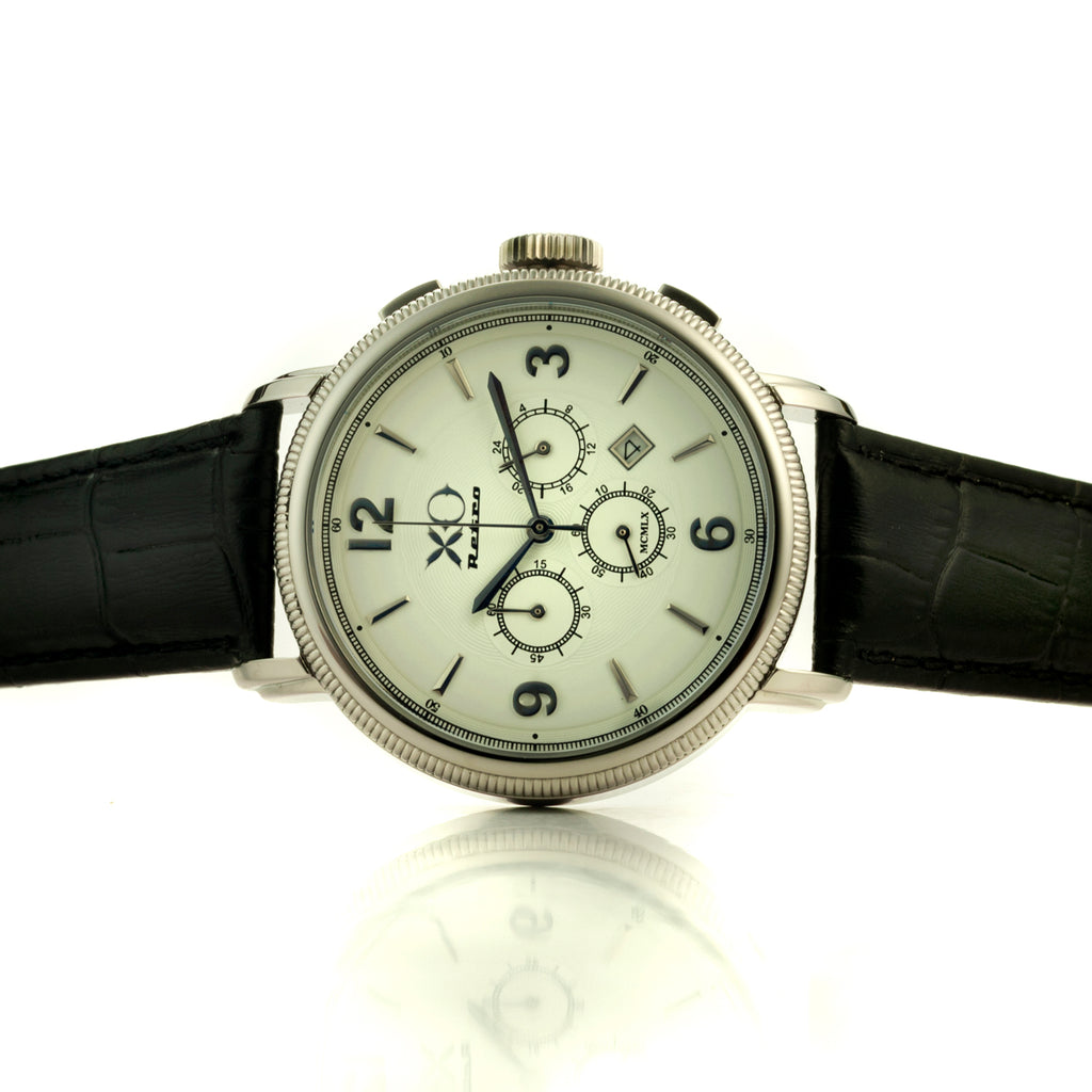 XO Retro Men's Certified 1960 Ferrari 250GT DNA - White Dial Black Strap