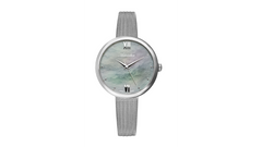 Adriatica Ladies Limited Edition Swiss Made Stainless Steel White MOP Dial Mesh Band