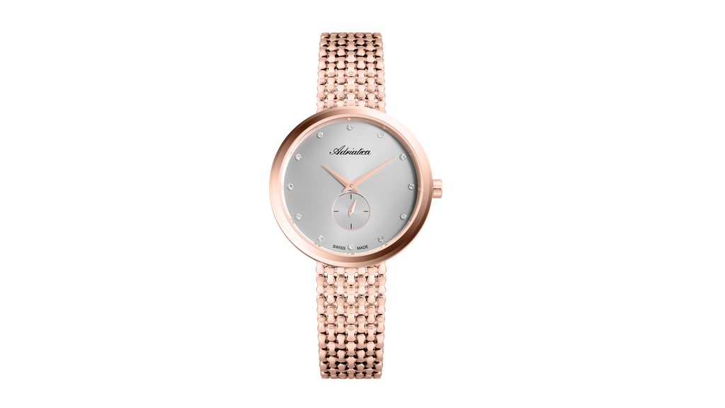 Adriatica Ladies Limited Edition Swiss Made Rose Gold Silver Dial