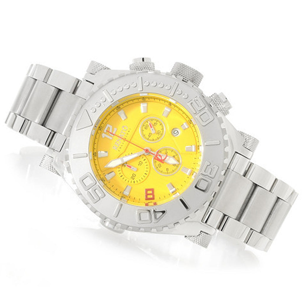 Renato 50mm Swiss Made Emporium Chronograph Diver Stainless Steel Yellow Dial