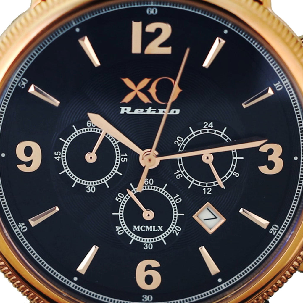 XO Retro Men's Certified 1960 Ferrari 250GT - Rose Gold Black Dial