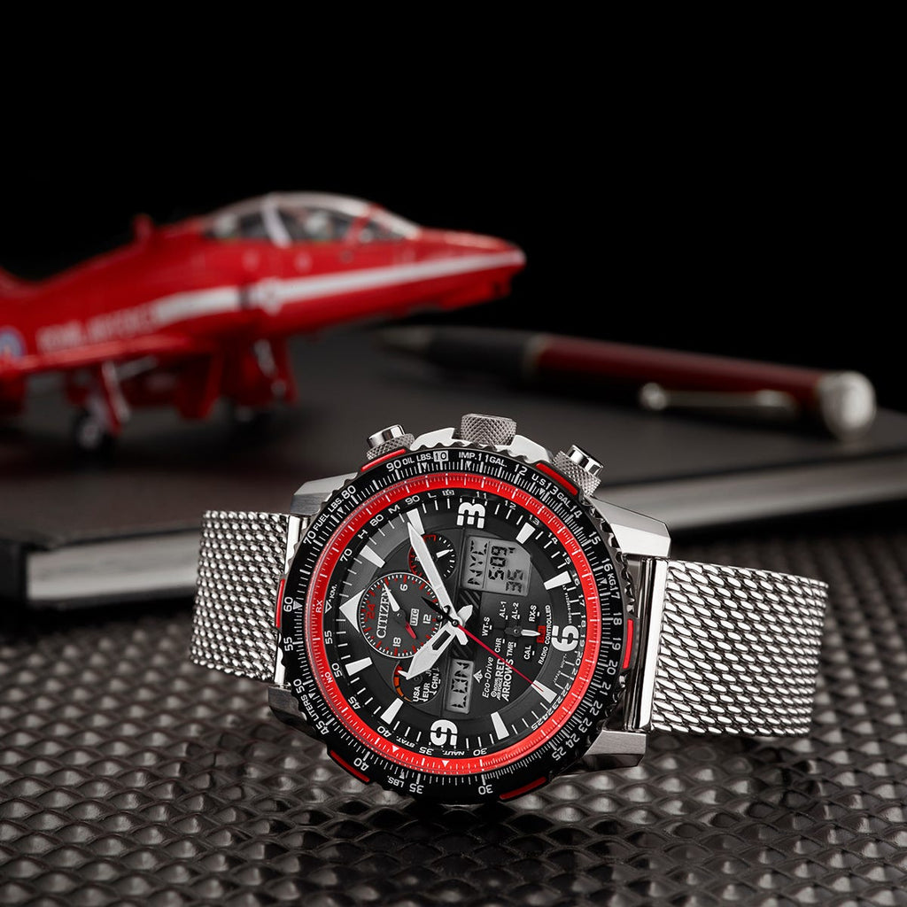Citizen Eco-Drive 46MM Limited Edition Promaster Skyhawk A-T World Timer - Red Arrows
