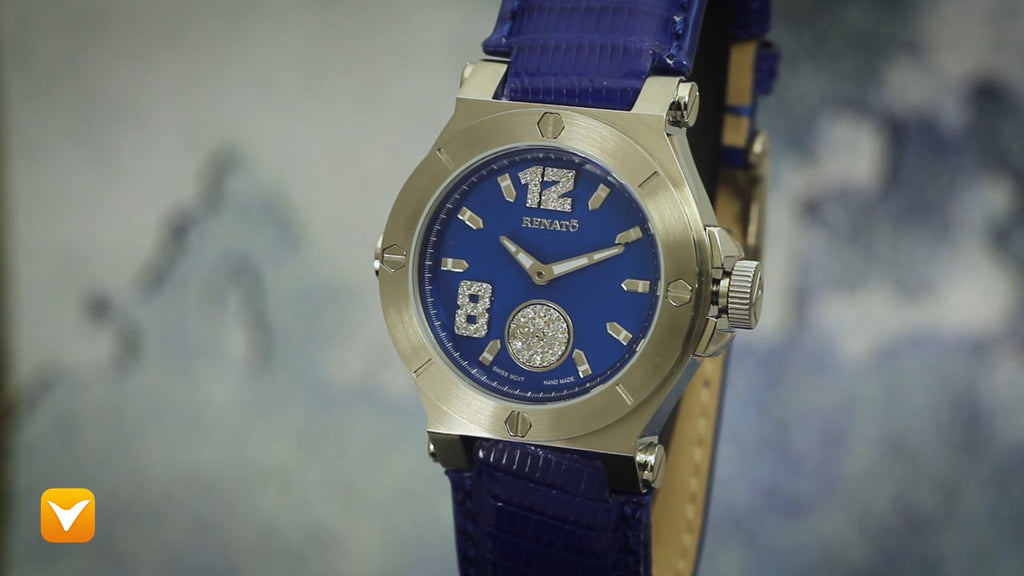 Renato Gent's Swiss Luxury Limited Edition Diamond Dial Blue Leather Strap