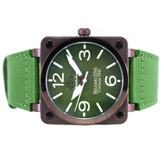 XO Retro Men's Certified 1941 P-51 Mustang DNA - Square Collection Green Dial