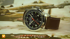 XO Retro Men's Certified 1991 A-10 Warthog Fighter DNA - Black Dial Brown Strap