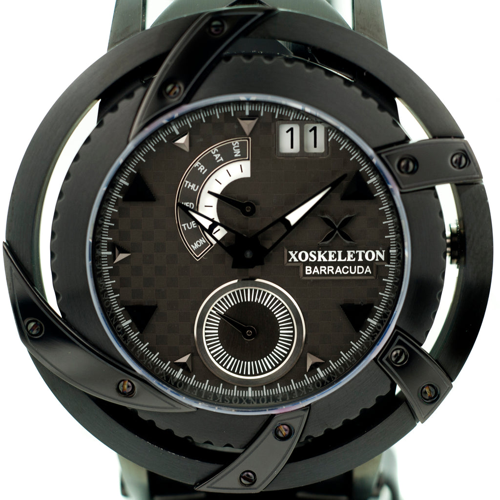XOSkeleton Swiss Barracuda Limited Edition 22pcs Black IP Smoke Dial