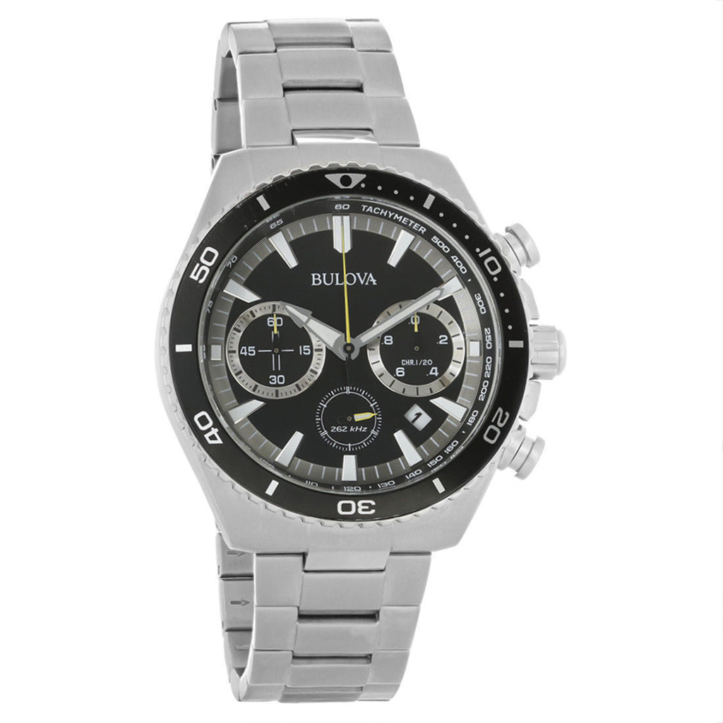 Bulova Ultra High Performance Chronograph Diver Stainless Steel Black Dial