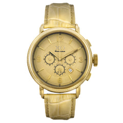 XO Retro Men's Certified 1960 Ferrari 250GT DNA - Yellow Gold Tone Dial Tan Strap