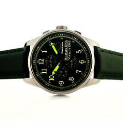 XO Retro Men's Certified 1943 P-38 Lightning Plane DNA Green Dial Green Strap