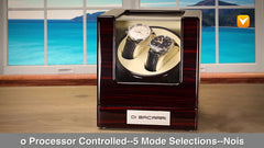 Di Bacarri Special Collector's Watch Winder Presentation Box - Mahogany Wood