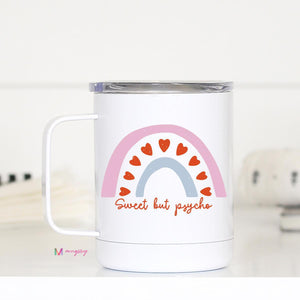 Dog Mom with Floral Paw Travel Cup