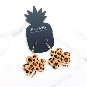 Leopard Shamrocks - Dixie Bliss - Dangle Earring