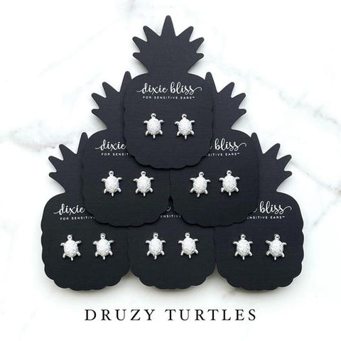 Druzy Turtles - Dixie Bliss - Single Stud Earrings