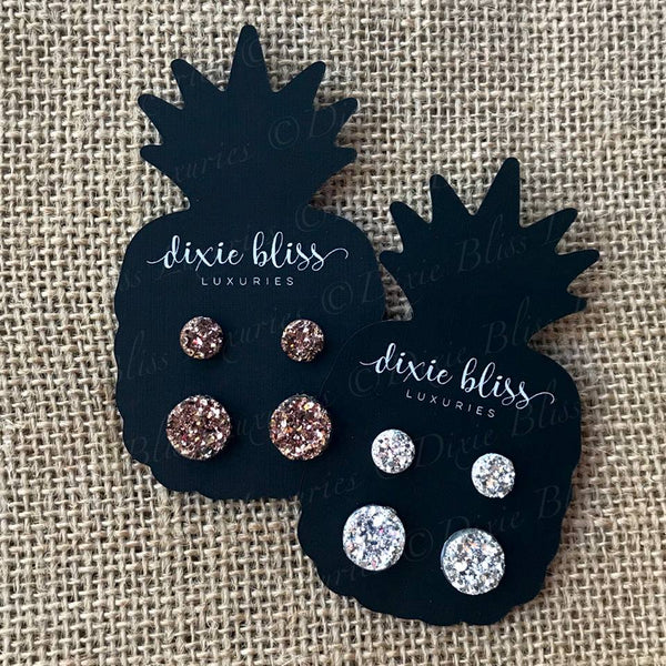 Mommy + Me Druzy - Dixie Bliss - Duo Stud Earring Set