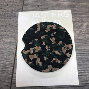 Camo Car Coaster - Courtois' Creations{Custom Apparel+Boutique}