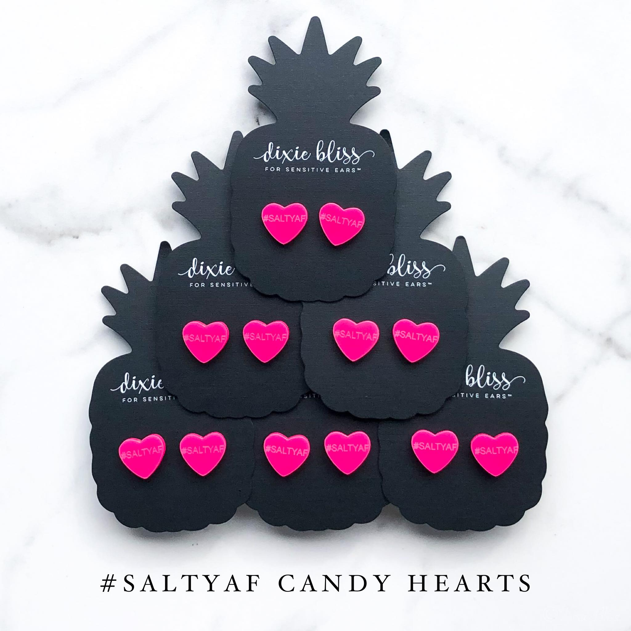 Salty AF Candy Hearts - Dixie Bliss Luxuries