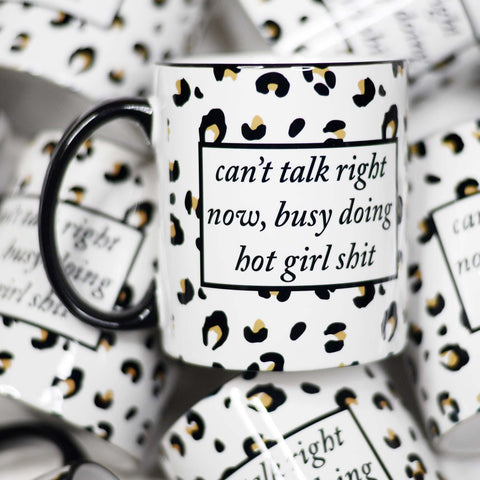 Can't Talk Right Now Ceramic Mug