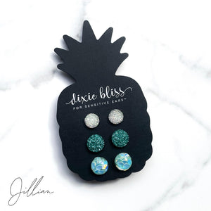 Jillian - Dixie Bliss - Trio Stud Earring Set
