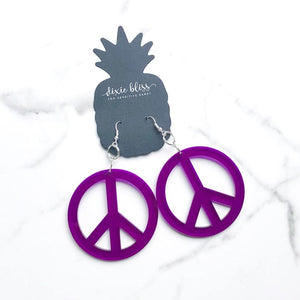 Peace Sign in Translucent Purple - Dixie Bliss Luxuries