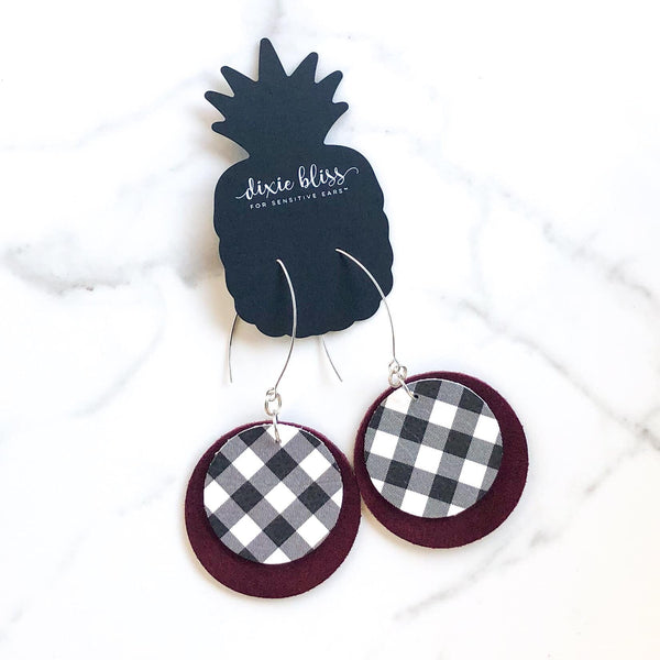 Bristol in Wine & Plaid - Dixie Bliss Luxuries