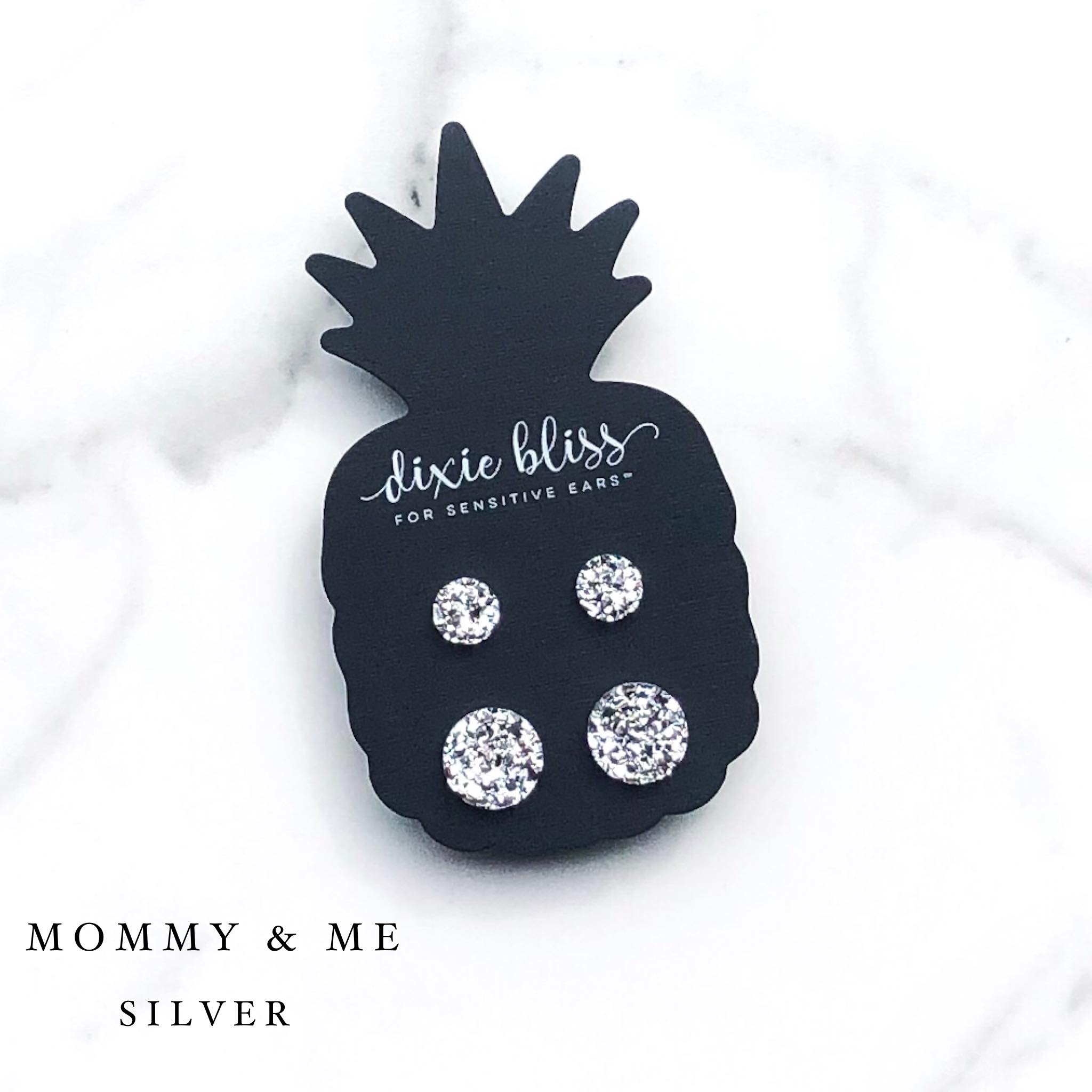 Mommy & Me Silver - Dixie Bliss - Duo Stud Earring Set