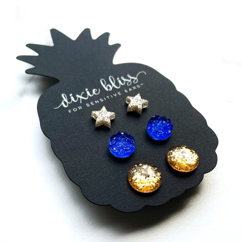 Pacey - Dixie Bliss - Trio Stud Earring Set
