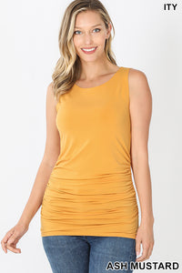 ITY SIDE RUCHED SLEEVELESS TOP