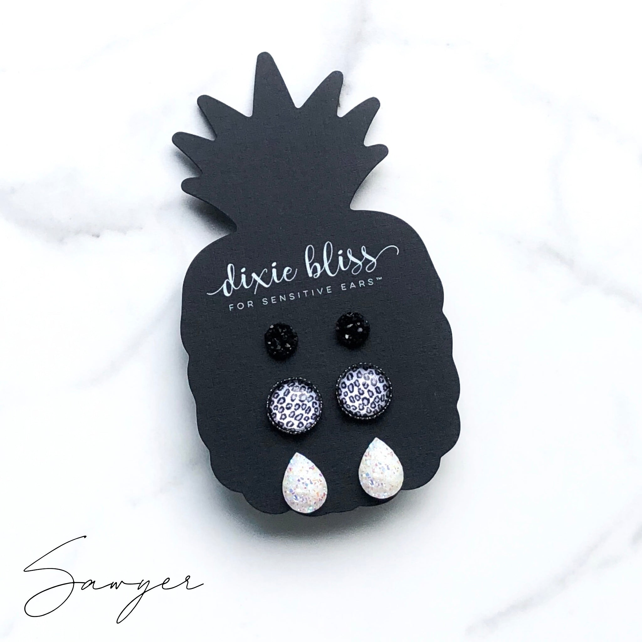 Sawyer - Dixie Bliss - Trio Stud Earring Set