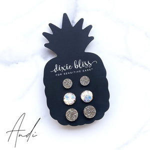 Andi - Dixie Bliss - Trio Stud Earring Set