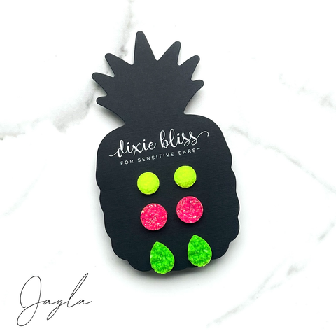 Jayla - Dixie Bliss - Trio Stud Earring Set