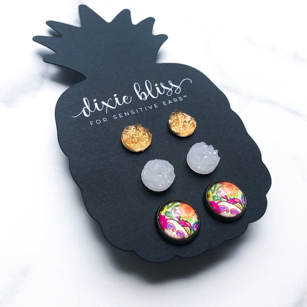 Cynthia - Dixie Bliss - Trio Stud Earring Set