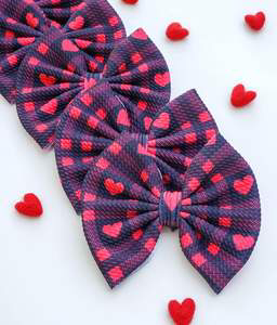 Savannah Bow-Buffalo Plaid Hearts