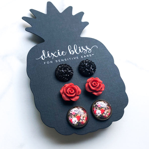 Gisele - Dixie Bliss - Trio Stud Earring Set