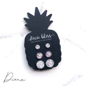 Diana - Dixie Bliss - Trio Stud Earring Set