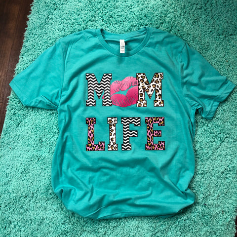 Mom life graphic shirt