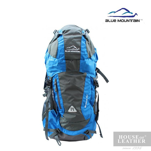 BLUE MOUNTAIN 11006 Hiking Bag 55L - Blue - Leatherhouse2u  - 1
