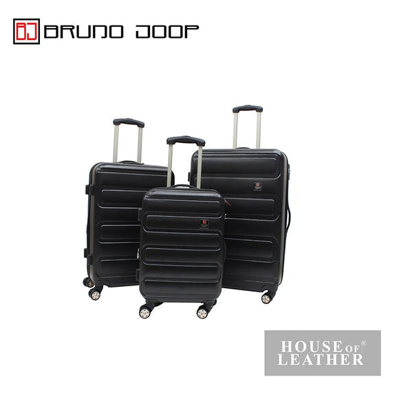BRUNO JOOP -HAYLEY EXPANDABLE 8 WHEELS SPINNER CASE - BLACK
