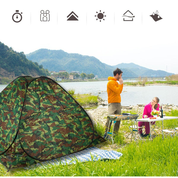 Free shipping Waterproof Automatic Pop Up Outdoor Camping Hiking Picnic Tent 3-4 Person Dustproof UV Protected Tent Camouflage