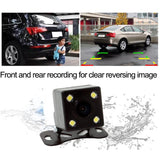 HD 4 Inch Dual Lens Image 1080P Hidden Wide Angle Driving Recorder Dash Cam Car DVR Camera Support Reversing