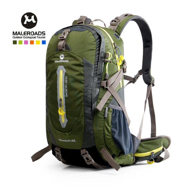 Maleroads Camping Hiking Backpack Sports Bag Outdoor Travel Trekk Rucksack Mountain Climb Equipment 40 50L Men Women Teenager