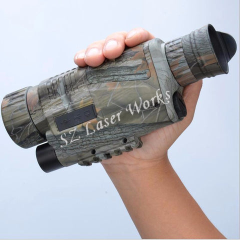 camouflage digital monocular infrared night vision goggles 5X40 night vision scope Takes Photos Video with TFT LCD for hunting