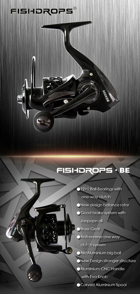 2017 New Mela Super Light Weight Wheel Graphite Body Pesca Max Drag 12KG Carp Fishing Reel Spinning Reel Free Shipping