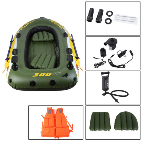 Inflatable PVC Rubber Rafting DraftingBoat Thicken Double Kayak Fishing Vessel Hovercraft with Paddles For 2/3 Persons