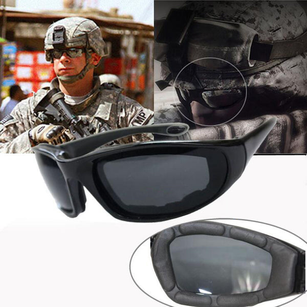 MASCUBE New Hiking Army Goggles Sunglasses Men Military Sun Glasses For Men's Desert Jungle Forest War Tactical Goggles Eyewear