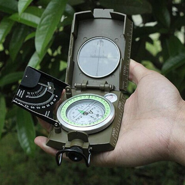 Professional Compass Military Army Geology Compass Sighting Luminous Compass for Outdoor Hiking Camping