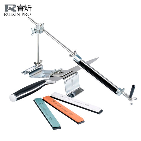 RUIXIN PRO III Knife Sharpener Professional All Iron Steel Kitchen Sharpening System Tools Fix-angle With 4 Stones Whetstone III